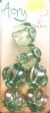 Acrybello 2.5 cm. blister 6 pieces. grosses perles a rainure, plastique, vertes