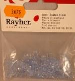 Fleurs acryliques, 9 mm, sct.-LS 50 pces, bleu