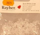 Fleurs acryliques, 9 mm, sct.-LS 50 pces, cristal