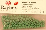 Perles indiennes, 4,5 mm, sct.-LS 16 g, vert