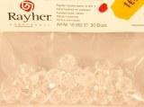 Perle facettee en plastique, 8 mm, cristal, sct.-LS 30 pces