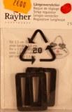 Bague de reglage, pour sangle 2,5 cm, sct.-LS 2 pces, noir
