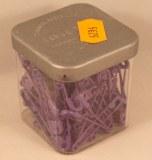 Epingle de surete, 34 mm, 0,80 mm a¸, boite 50g - 115 pces, lilas
