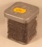 Epingles de surete, 22 mm, 0,70 mm a¸, boite 50 g - 218 pces, noir