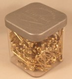Epingles de surete, 22 mm, 0,70 mm a¸, boite 50 g - 218 pces, or