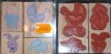 4 Tampons pour naissance : bebe, lapin, landau, elephant