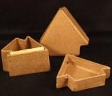 Petite boite sapin en papier-mache 5cm