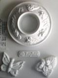 Moule plastique pour support bougie chauffe-plat 145X180mm decor papillons