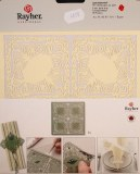Piece decoupee au laser Clip fioriture, sct.-LS 1 coupon, 15,3x15,5 cm, ivoire