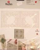 Piece decoupee au laser Clip fioriture, sct.-LS 1 coupon, 15,3x15,5 cm, blanc
