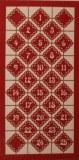Piece decoupee au laser Chiffres, sct.-LS 1 coupon, 15,2x7,7 cm, bordeaux
