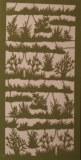 Piece decoupee au laser Herbes, sct.-LS 1 coupon, 15,5x7,5 cm, vert eternel