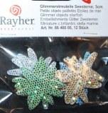 Objets pailletes Etoile de mer, 3 cm 12 pieces