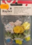 Petites pieces en bois: Pot de fleur, 5 cm, sct.-LS 12 pces, 3 couleurs, assorties