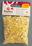 Paillettes, bombees, 6mm a¸, sct.-LS 4000 pieces, jaune irise