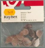 Paillettes Feuille, 18 mm, sct.-LS 20 pces, argent