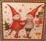 Set de serviettes, 20 serviettes - 10 motifs Noel