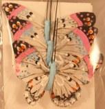 Papillon en plumes, 6 cm, sct.-LS 3 pces, bleu clair