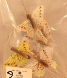 Papillon, 5 cm, 6 couleurs assorties, assorties