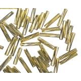 Chevilles en verre. twistet. 12 mm avec garniture argent. boite 14g or
