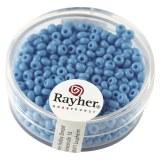 Rocailles. 2.6 mm  opaques boite 17 g bleu clair
