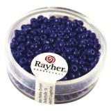 Rocailles. 2.6 mm  opaques boite 17 g bleu fonc