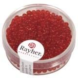 Rocailles. 2.6 mm transparentes boite 17 g rouge