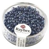 Rocailles. 2.6 mm ø. opaques lustre boîte 17 g bleu clair