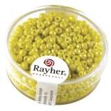 Rocailles. 2.6 mm ø. opaques lustre boîte 17 g jaune