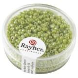 Rocailles. 2 mm ø. opaques lustre boîte 17g vert clair