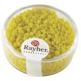 Rocailles. 2 mm ø. opaques boîte 17g jaune