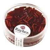 Chevilles en verre. 7/2 mm avec garniture argent. boîte 15 g rouge