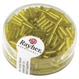 Chevilles en verre. 7/2 mm avec garniture argent. boîte 15 g jaune