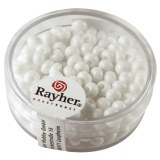 Perles indiennes. 4.5 mm ø boîte 17 g blanc