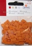 Mosaique resine haute qualite couleur orange 0.5 cm (15g environ 64cm²)