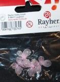 Papillon en collants, 1,5 cm, sct.-LS 4 pces, rose
