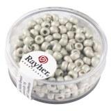 Metallic-rocailles. depolies 4 mm. boite 17 g blanc