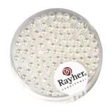 """Perles en verre """"Renaissance""""  ø 3 mm. boîte 95 pces blanc neige"""