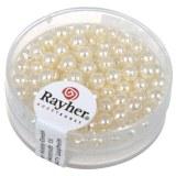 """Perles en verre """"Renaissance"""". 4 mm ø boîte 85 pces blanc"""