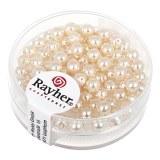 """Perles en verre """"Renaissance"""". 4 mm ø boîte 85 pces rose poudre"""