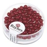 """Perles en verre """"Renaissance"""". 4 mm ø boîte 85 pces rouge classique"""