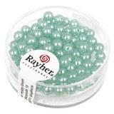 """Perles en verre """"Renaissance"""". 4 mm ø boîte 85 pces turquoise"""