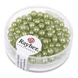 """Perles en verre """"Renaissance"""". 4 mm ø boîte 85 pces jade"""