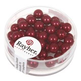 """Perles en verre """"Renaissance"""". 6 mm ø boîte 45 pces rouge classique"""