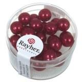 """Perles en verre """"Renaissance"""". 8 mm ø boîte 25 pces rouge classique"""