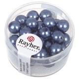"""Perles en verre """"Renaissance"""". 8 mm ø boîte 25 pces bleu azur"""