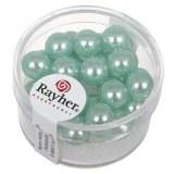 """Perles en verre """"Renaissance"""". 8 mm ø boîte 25 pces turquoise"""