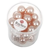 """Perles en verre """"Renaissance"""". 10 mm ø boîte 35 pces rose coquille"""