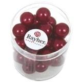 """Perles en verre """"Renaissance"""". 10 mm ø boîte 35 pces rouge classique"""
