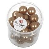 """Perles en verre """"Renaissance"""". 10 mm ø boîte 35 pces cachemire"""